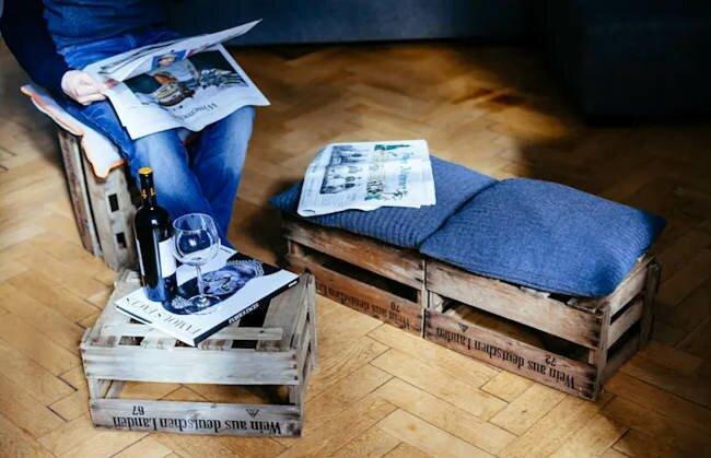 комплект мебели из ящиков