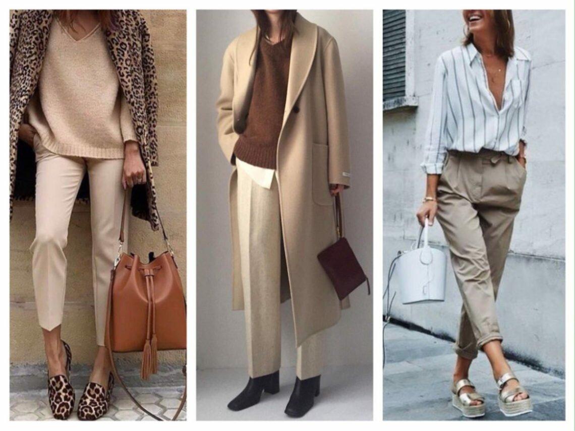Трендовые бежевые брюки — выбор девушек в 2020 году